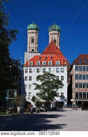Munich, Bavaria, Germany - 13 Sep 2015: Church Of Our Lady, Frauenkirche In Munich, Germany