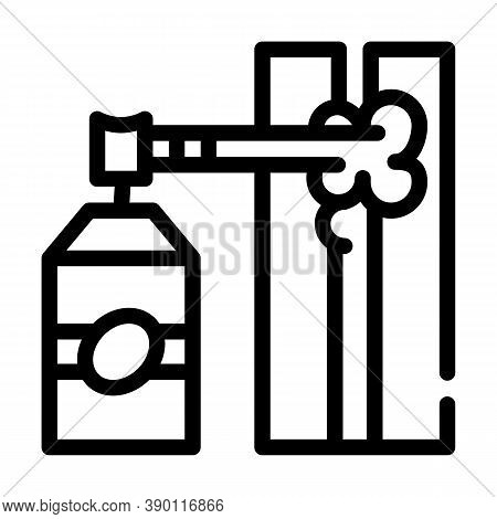 Gap Filling By Foam Line Icon Vector Illustration