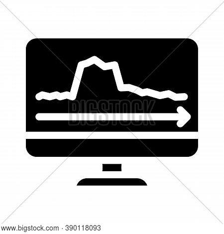 Peak Voltage Surges Glyph Icon Vector Illustration