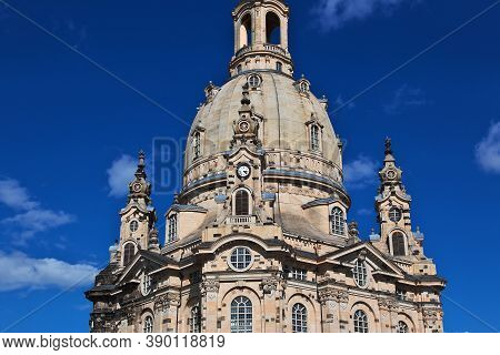 Frauenkirche In The Center Of Dresden, Saxony, Germany