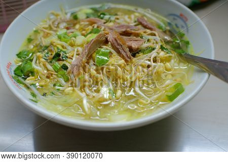 Soto Ayam - Indonesian Specialties Made From Vegetables And Chicken, Delicious Chicken Soup Is Ready