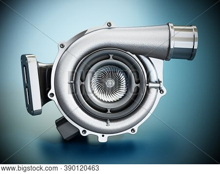 Generic Turbo Isolated On White Background. 3d Illustration.