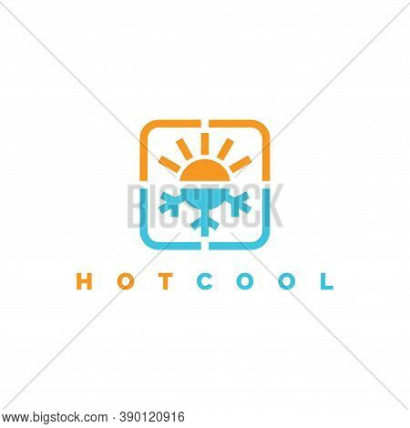 Hot And Cool Logo Design Illustration Vector Template