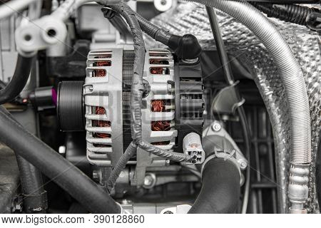 Electric Vehicle Generator At Shallow Depth Of Field