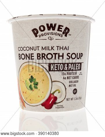 Winneconne, Wi - 16 October 2020:  A Package Of Power Provisions Coconut Milk Thai Bone Broth Soup O