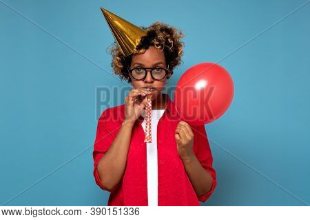 African Woman Feeling Sad Or Bored Expression, Looking Unhappy After Friends Did Not Come To Her Par