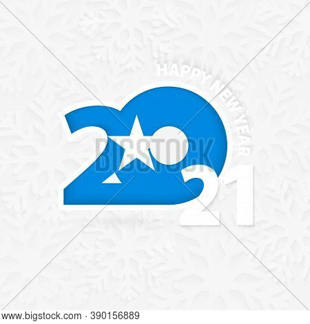 Happy New Year 2021 For Somalia On Snowflake Background. Greeting Somalia With New 2021 Year.