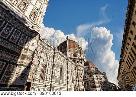 Florence Cathedral (duomo Di Santa Maria Del Fiore), With The Dome By The Architect Filippo Brunelle