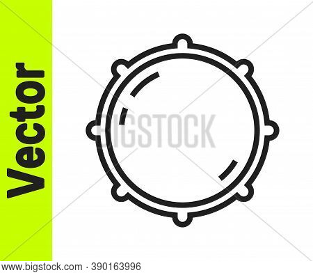 Black Line Dial Knob Level Technology Settings Icon Isolated On White Background. Volume Button, Sou