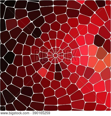 Pattern With Colored Chaotic Stones. Abstract Modern Endless Background In Glowing Red Lava Colors.