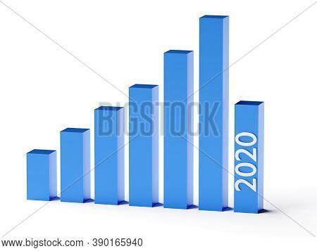Business And Bankruptcy Concept. Bankrupt Graph With Recession In 2020 Year. 3d Rendering