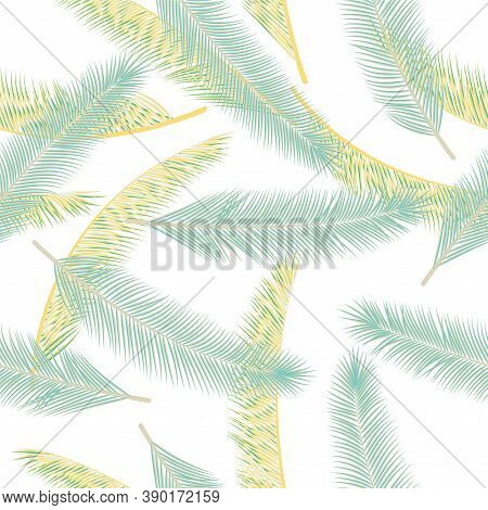 Natural Feather Plumage Vector Seamless Pattern. Simple Wrapping Paper. Airy Natural Feather Plumage