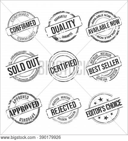 Collection Of Grungy Rubber Stamps Vintage Design