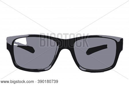 Image Of Sunglasses On White Background - Stock Image