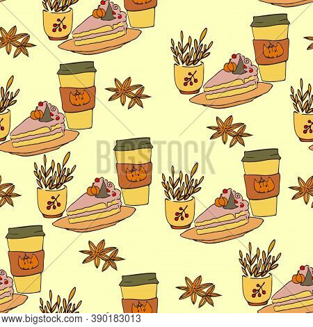 Cute Autumn Vector Illustrations For Greeting Cards, Posters And Seasonal Designs, Cute Leaves, Appl