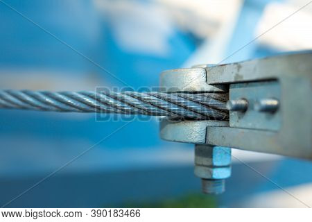 Fastening In Technology And Industry. Cable-stayed Fastening. Stretch Fastening.