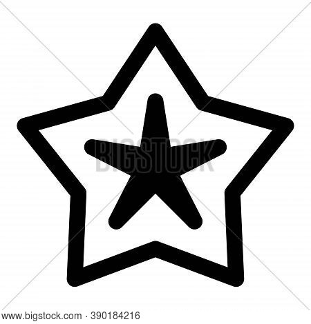 Starfish Icon In Line Style. Tropical Fauna Symbol. Vacation, Ocean Trip Sign.