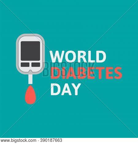 Diabetes Check, World Diabetes Day Flat Design Vector Illustration