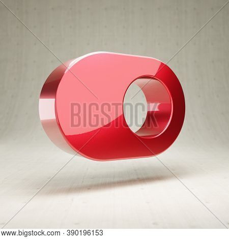 Toggle On Icon. Gold Glossy Toggle On Symbol Isolated On White Concrete Background. Modern Icon For