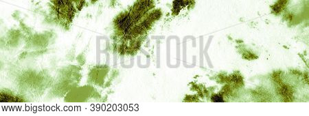 Abstract Aquarelle Painting. Green Grassy Dyed Pattern. Painted Wallpaper. Aquarel Paint Stain Drawi