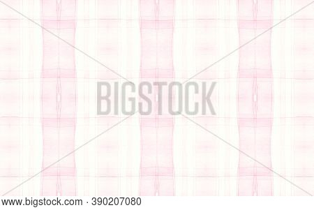 Girly Pajama Pattern. Retro Seamless Tartan Textile. Watercolor Stripes For Shirt Print. Kids Elegan