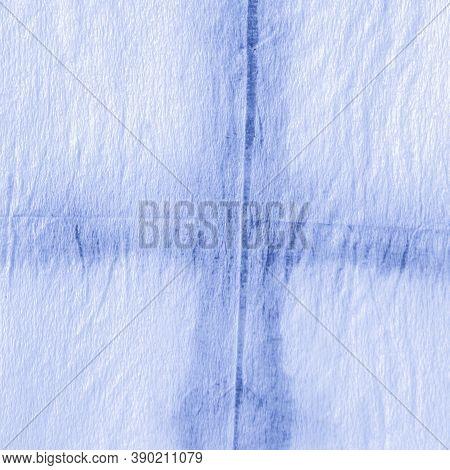 White Chevron Background. Marine Dirty Ink Strokes. Indigo Watercolor Diagonal. Geometric Abstract.