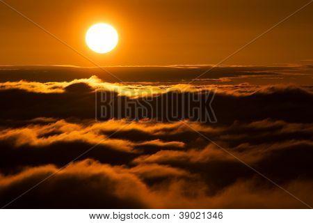 Alpine sea of clouds, Cozia National Park, Romania