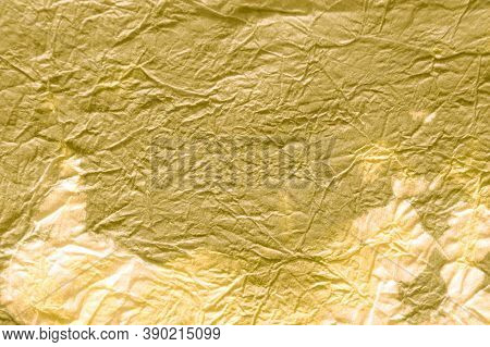 Metal Paint Background. Dirty Art Metal Background. Handmade Antique Scratched Soaked Paper. Yellow