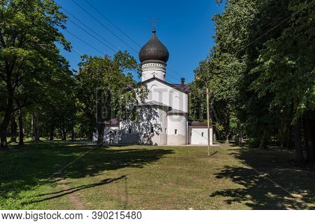 Cathedral Of Our Lady Sovereign. Gdov Fortress. The Cathedral Was Built In 1991 On The Site Of The A