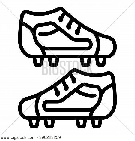 Studs Footbal Boots Icon. Outline Studs Footbal Boots Vector Icon For Web Design Isolated On White B