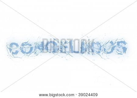 A frozen word/phrase from a serie isolated on a white background. 'Congelados' in Portuguese-Br language means 'Frozen' in plural or as 'Frozen foods'. poster