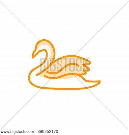 Vector Illustration Of Swan Icon Design Template