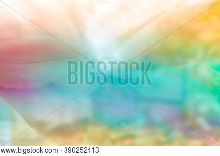 Colorful Blurred Abstract Background For Thai New Year Songkran Festival. Abstract Rainbow Color Lig