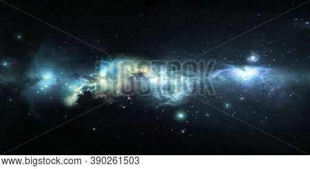 Space Background Starry Sky With Beautiful Nebulae, 3d Illustration