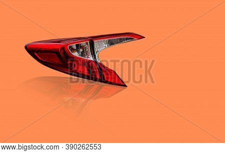 Car Taillight, Led Light System Technology Isolated On White Background.