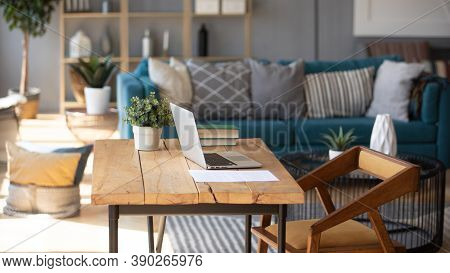 Empty Modern Homeoffice Interior For Comfortable And Productive Work