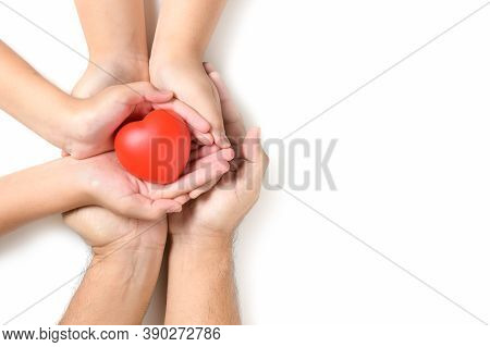 Hands Holding Red Heart, Heart Health, Donation, Happy Volunteer Charity, Csr Social Responsibility,