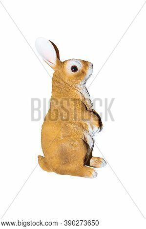 Rabbits Stucco Isolated On A White Background