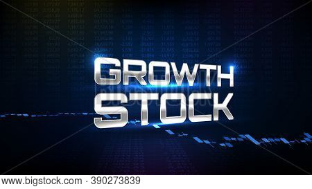 Abstract Background Of Trading Growth Stock Market With Stock Market Volume Chart