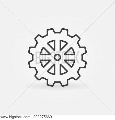 Vector Cog Wheel Line Vector Concept Icon Or Design Element