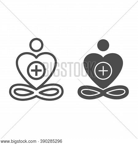 General Patient Well-being Line And Solid Icon, Medical Tests Concept, Wellness Symbol On White Back