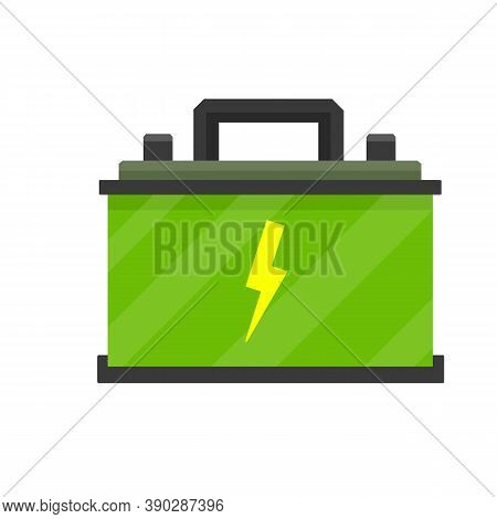 Green Battery. Rechargeable Accumulator Power Supply. Electricity In The Car. Energy Reserve. The Te
