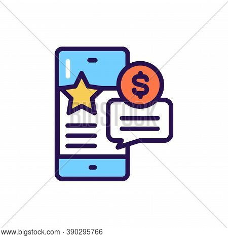 Placement Of Paid Publications Line Color Icon. Smm Promotion.