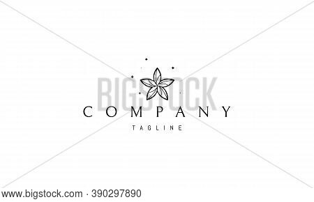 Vector Logo On Which An Abstract Image Of A Starfish In The Form Of A Flower.