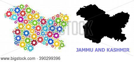 Vector Mosaic Map Of Jammu And Kashmir State Done For Engineering. Mosaic Map Of Jammu And Kashmir S