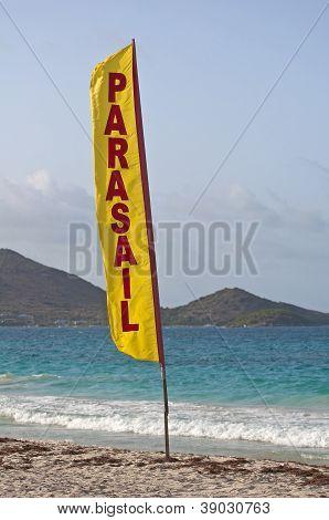 Parasail Beach Flag.