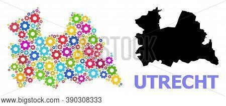 Vector Mosaic Map Of Utrecht Province Constructed For Workshops. Mosaic Map Of Utrecht Province Is C