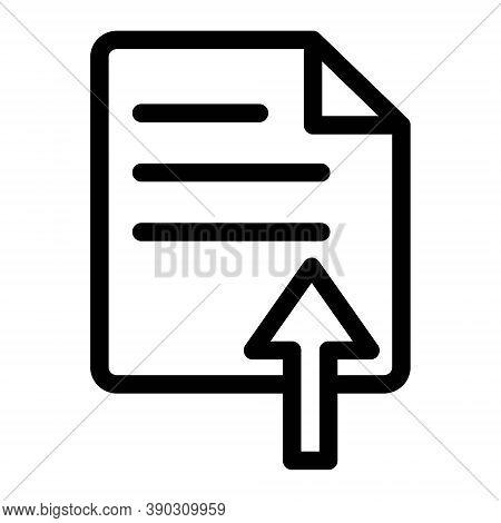 Upload File Icon. Upload Document Symbol. Vector Icon.