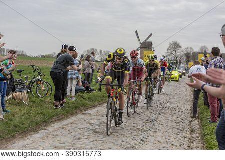 Templeuve-en-pévèle, France - April 08, 2018: The German Cyclist Tony Martin Of Team Katusha-alpecin