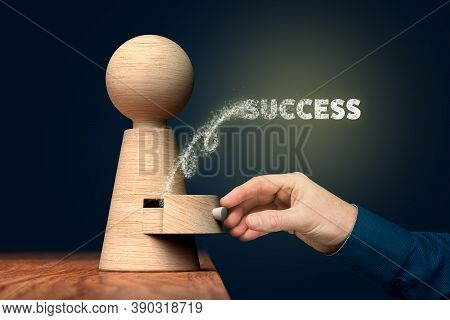 You Have Your Success Hidden In You - Personal Development Concept. Coach (manager, Mentor) Open Dra